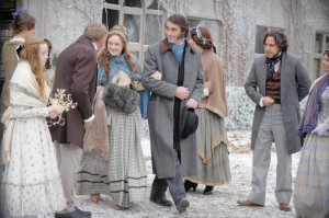 John Ruskin and Effie Gray depart for London after their marriage